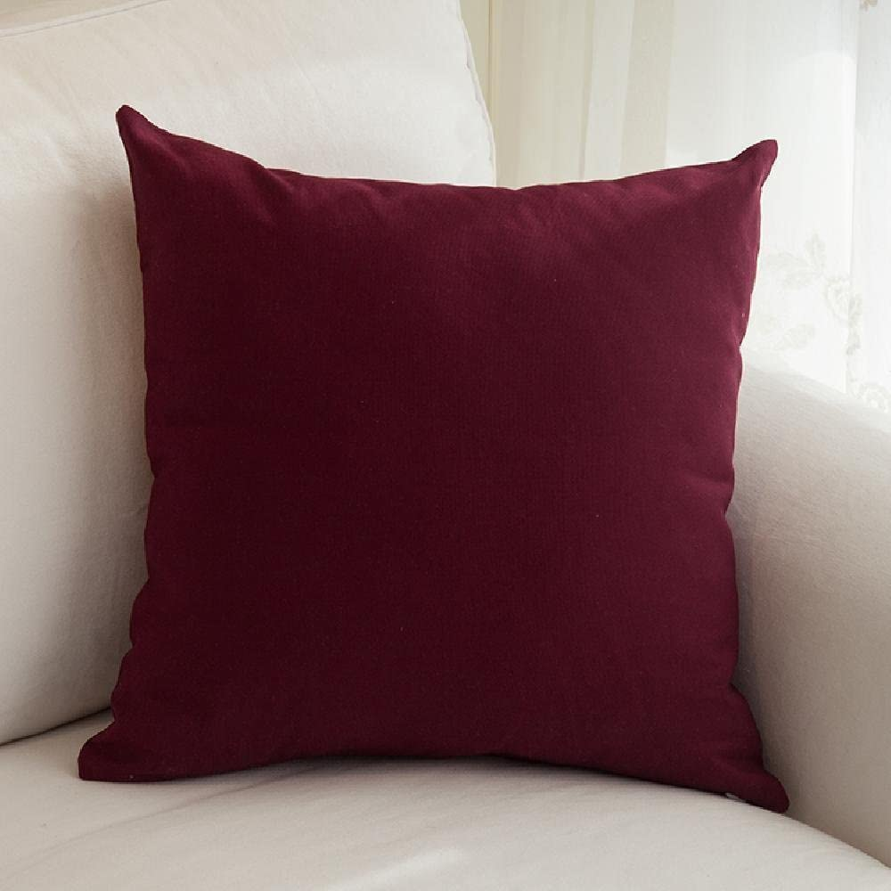 Amazon Com Arthur Hotel Collection 100 Egyptian Cotton Tangdepot Decorative Handmade Solid Throw Pillow Cover 14 Inch X 14 Inch Wine Home Kitchen