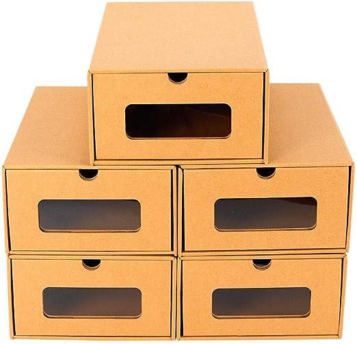 WUPYI2018 - 20 Cajas para Zapatos, apilables, de cartón, marrón Claro, Aprox. 35 x 23,5 x 13,5 cm.: Amazon.es: Juguetes y juegos