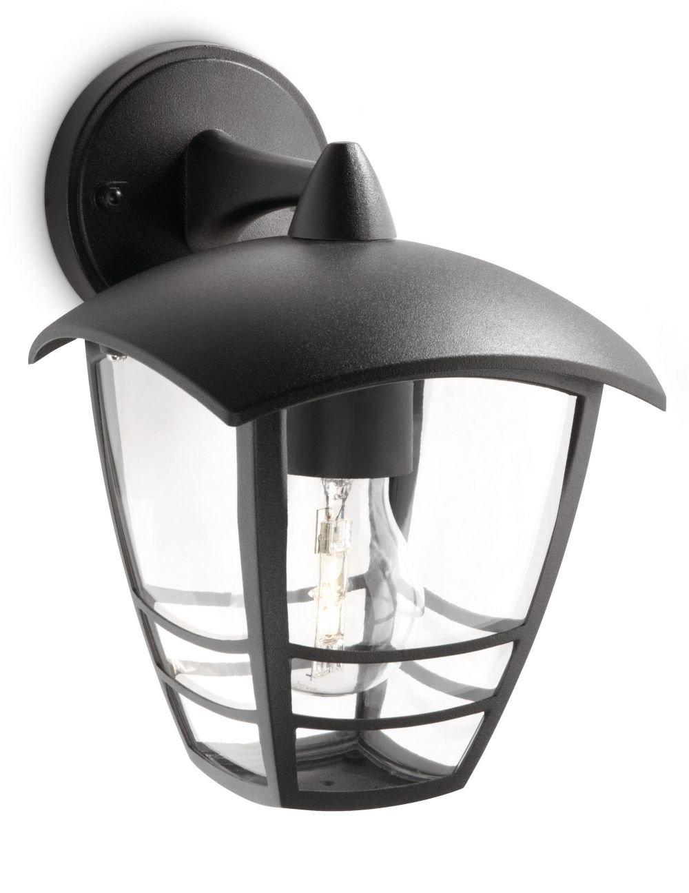Philips myGarden Creek - Aplique de exterior, con brazo, casquillo gordo E27, bombilla no incluida, 24 cm, color blanco [Clase de eficiencia energética A] 915002790002 153813116 apliques iluminacion