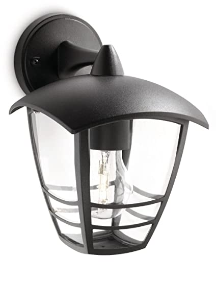Beroemd Philips MyGarden Creek Outdoor Wall Light Black (Requires 1 x 60 FB13