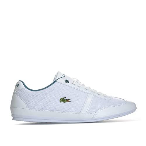 Lacoste - Zapatillas de Tela para Hombre Blanco Blanco: Lacoste: Amazon.es: Zapatos y complementos
