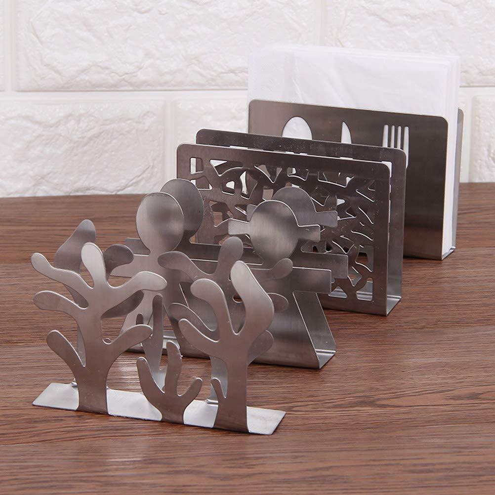 Plant Design BESTONZON Napkin Holder Napkin Holder Stainless Steel Napkin Holder Paper Towel Holder Tissue Holder Stand