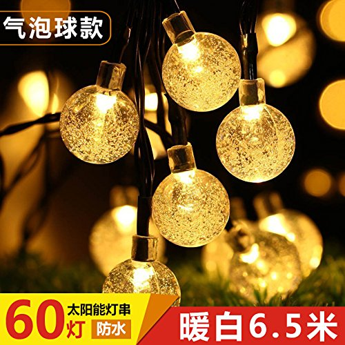 negozio di vendita outlet GGSSYY Energia solare Outdoor Impermeabile Super leggero Coloreato Led Lampada Lampada Lampada decorativa Cortile Lanterna, Bianco caldo Bubble Ball 30 Lampada 6.5 Metri  prezzi eccellenti