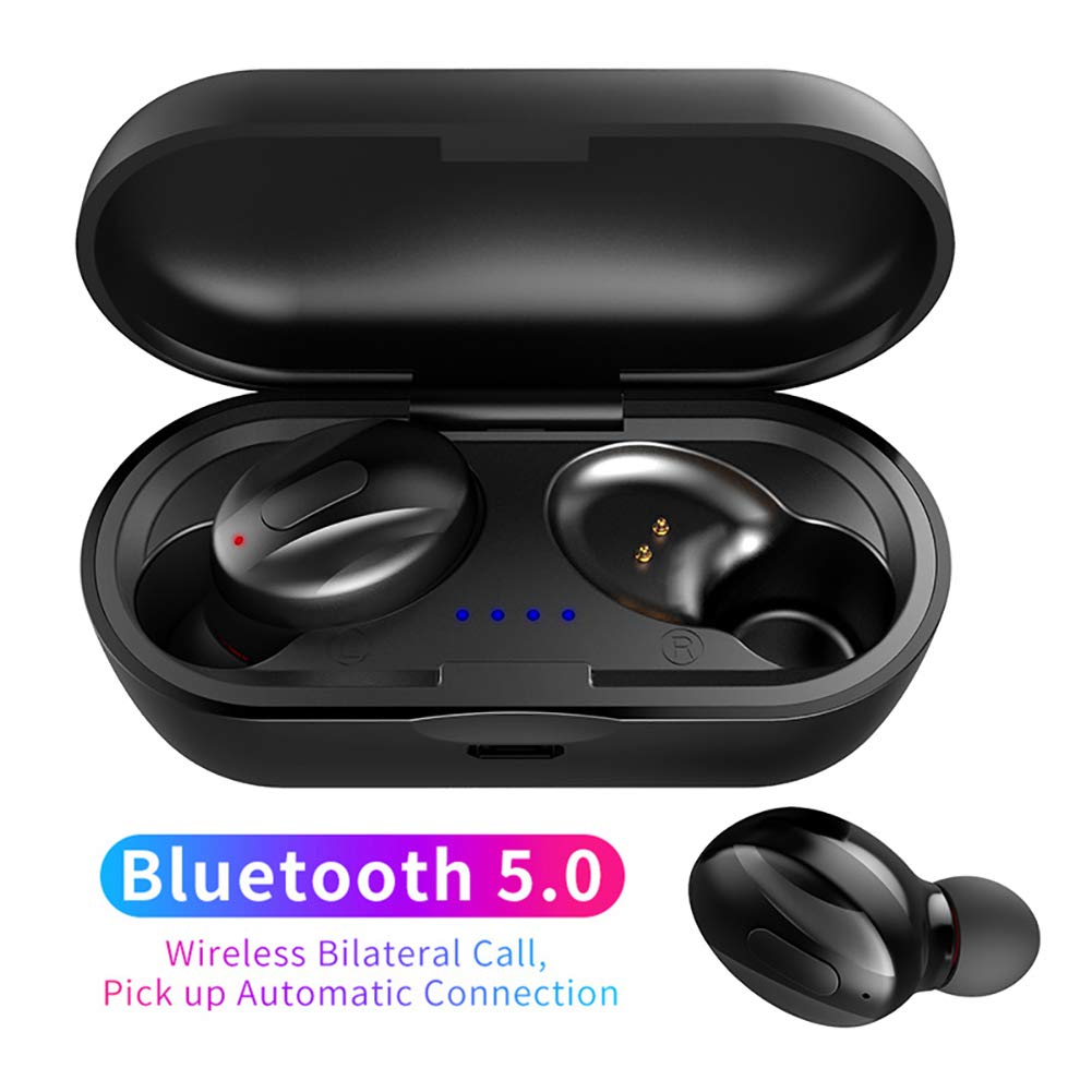 newshijieCOb XG13 Mini TWS Wireless Earbuds Headphones Bluetooth 5.0 Stereo Sport Earphones Headset with Charging Case Black