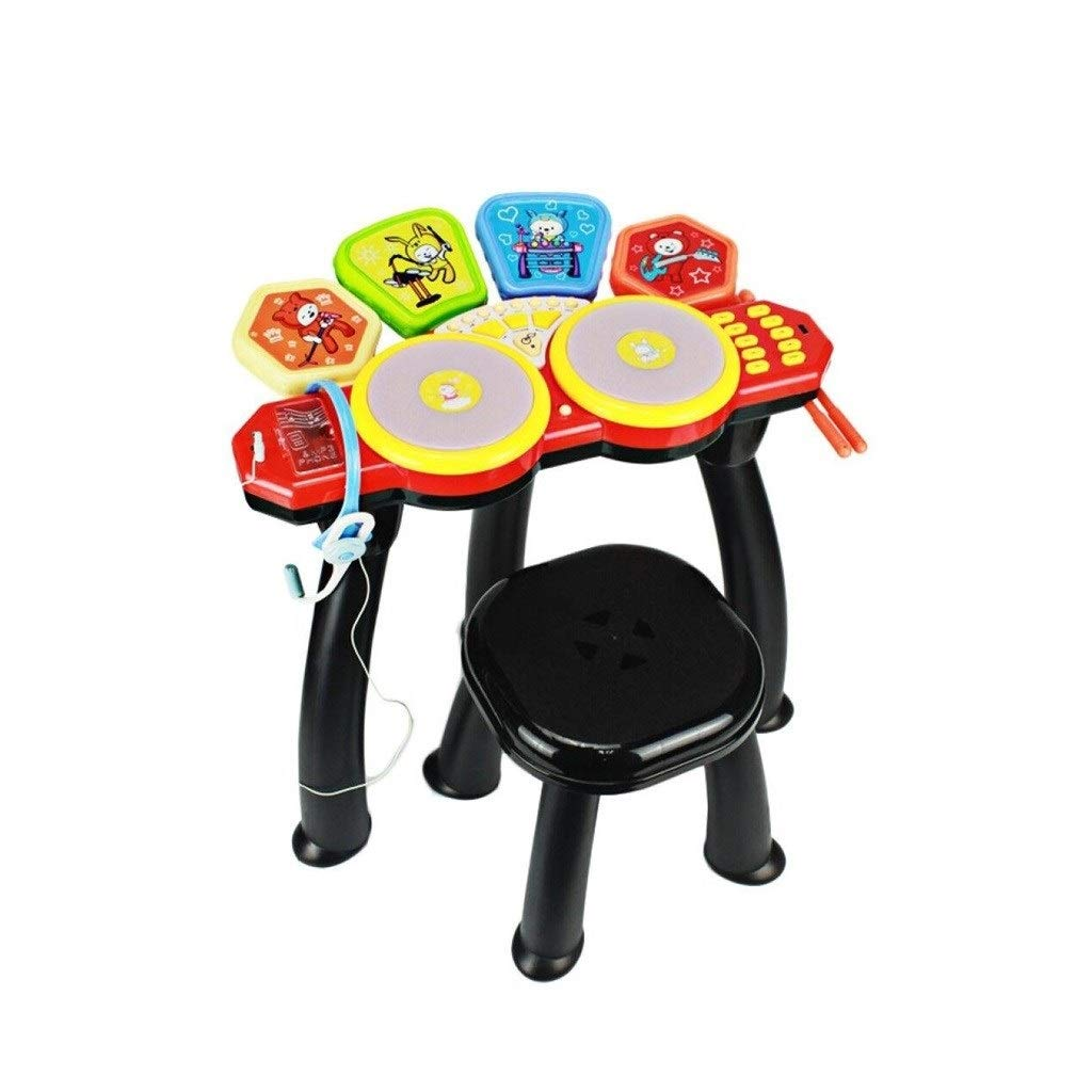 X-Kids Drum Drums Musical Instruments Beat Combination Drums Jazz Drums Children's Toys Fun Early Education Male and Female (Color : Red) by X-Kids Drum