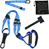 HallSpo Fitness Training Pro Professional Gym Fitness Training Straps Suspension System Training Kit for Home Gym Workout