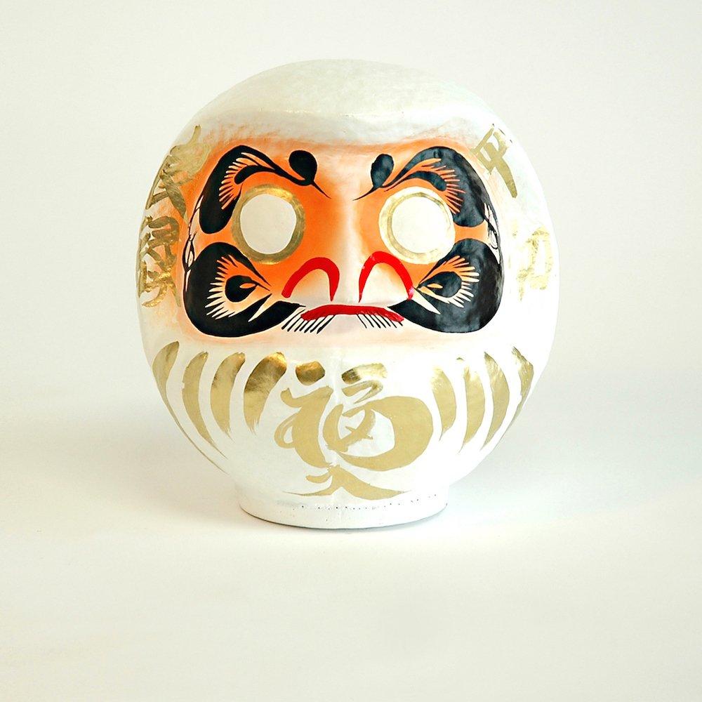talismán japonés cabeza papel mache