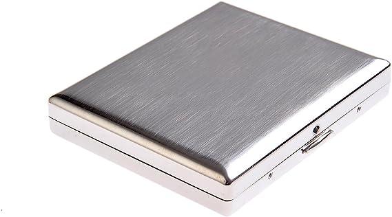 Imagen dePitillera de Acero Inoxidable, diseño Minimalista y clásico, para 18 cigarros, KC1-01