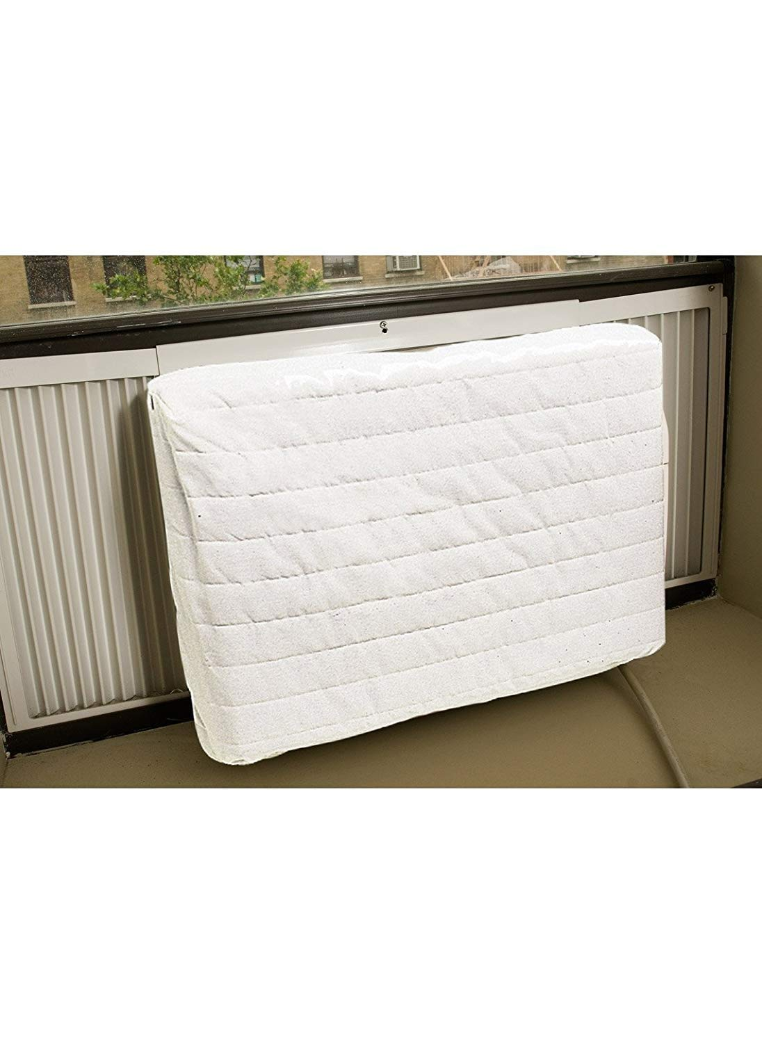 Trenton Gifts Quilted Air Conditioner Cover | Large | White MSR7767-T