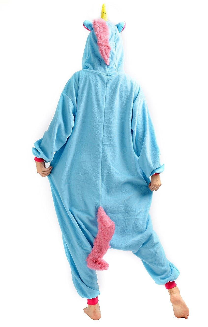 Unisex Animal Pijama Ropa de Dormir Cosplay Kigurumi Onesie Unicornio Disfraz para Adulto Entre 1,40 y 1,87 m