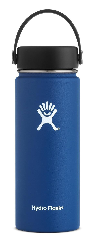 Hydro Flask, Bottle Wide Mouth Flex Cap Cobalt 18 Ounce