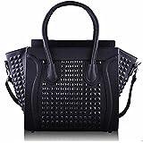 Women's Ladies Designer Leather Style Celebrity Tote Bag Smile Shoulder Handbag