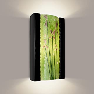 product image for ReFusion Meadow 1 Light Wall Sconce Finish: Black Gloss and Multi Lime