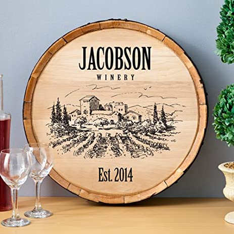 Personalized Wine Barrel Sign & Amazon.com: Personalized Wine Barrel Sign: Home u0026 Kitchen