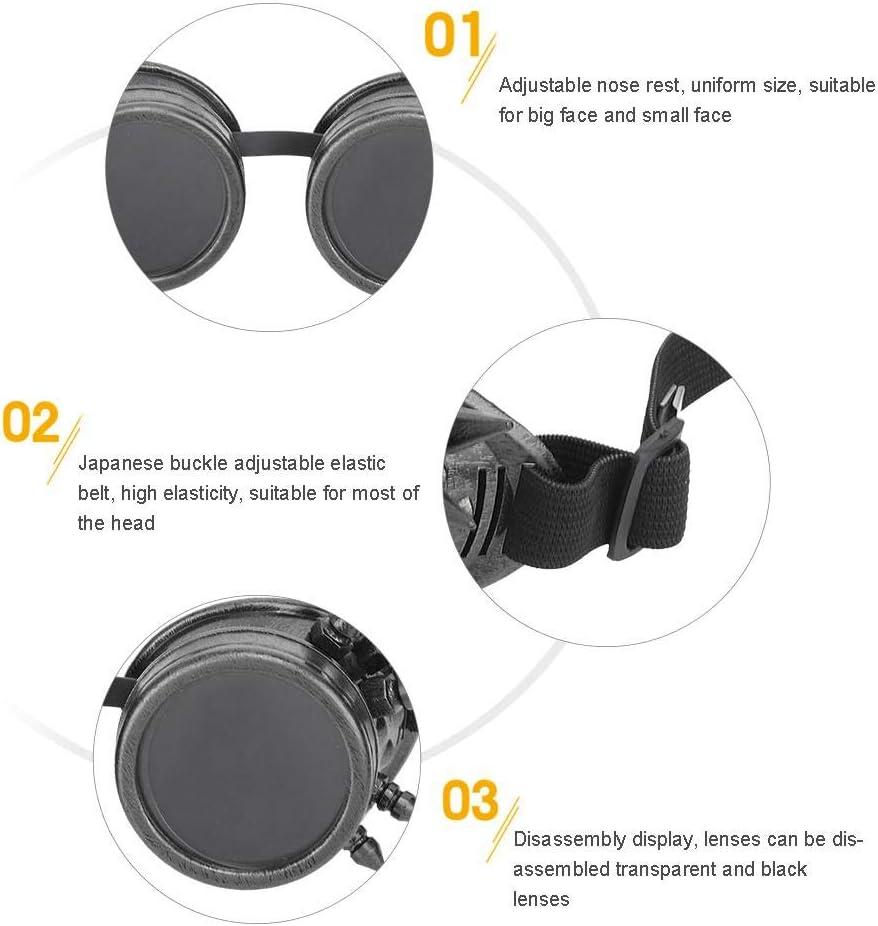 Occhiali da Sole Sportivi Antivento Casco Steampunk Occhiali per Occhiali da Ciclismo Racer per Bambini Uomo Donna Keenso Occhiali da Vista Vintage