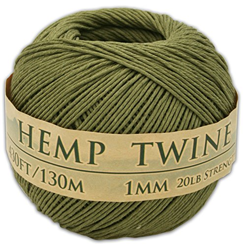 Green Hemp Cord (430 Feet of 1mm 100% Hemp Twine Bead Cord In Your Choice of Color (Truly Olive))