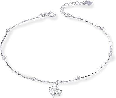 bracelet cheville femme argent 925