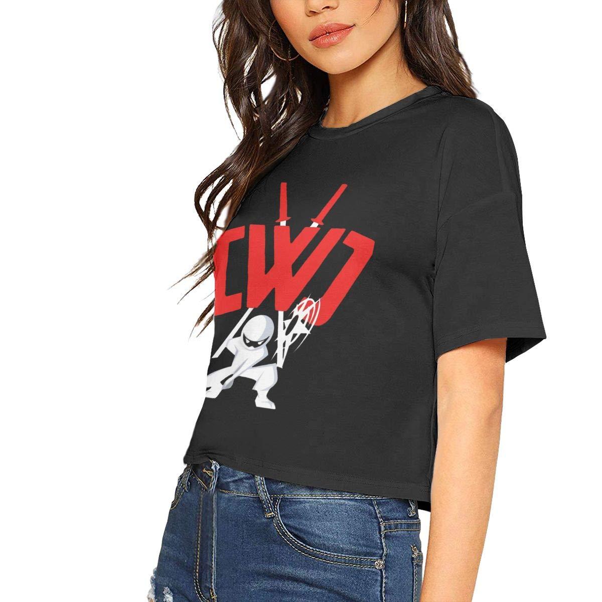 CWC Chad Wild Clay Ninja Woman Soft Leak Navel T Shirt at ...