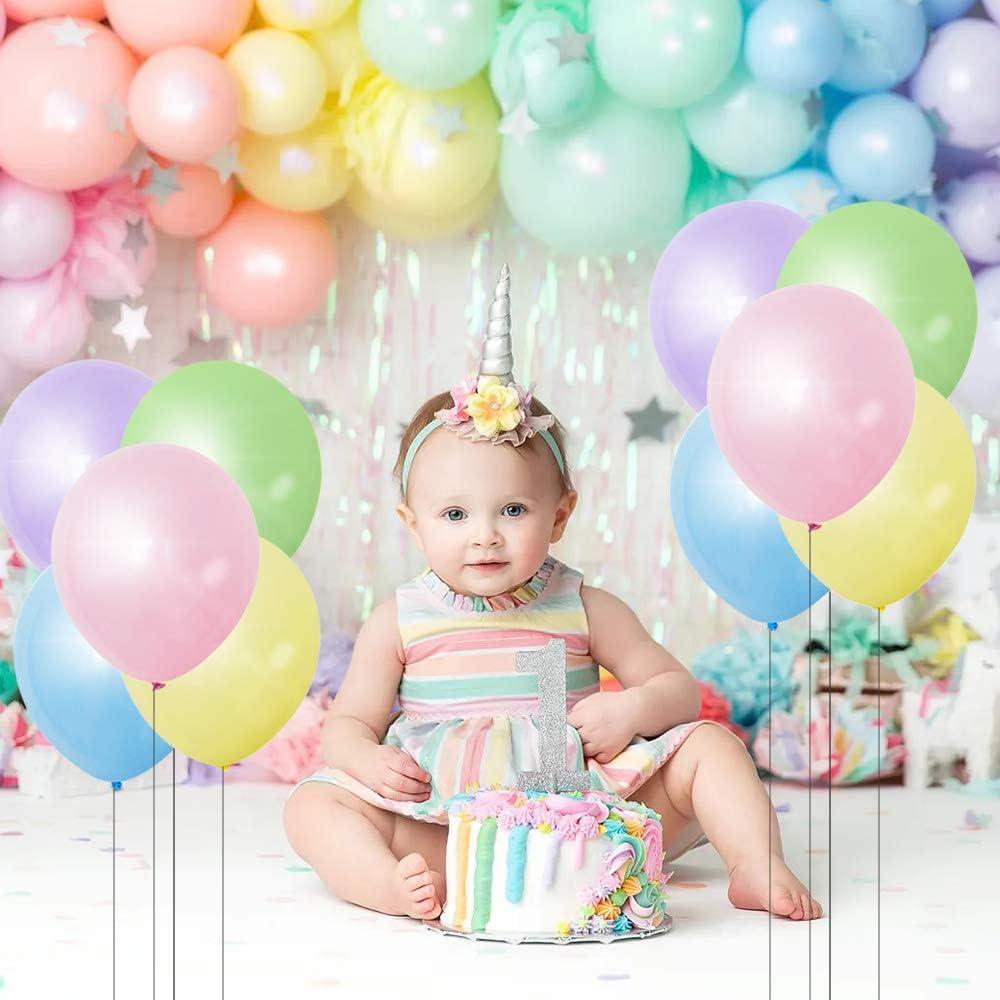 MMTX 106 St/ück Latex Luftballons Pastell,Multicoloured Ballon Set mit Ballonkette,Bindewerkzeug/&Band,Partyballon f/ür Kinder Geburtstag,Hochzeit,Jubil/äum,Gartenparty Dekoration 6 12 24