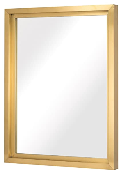 Amazoncom Glam 36x48 Inch Wall Mirror In Brushed Gold Stainless