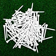 THIODOON Golf tees 3 1/4 inch Less Friction Wood Tees Training for Golfer Professional Natural Wood Golf tees