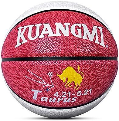 Kuangmi Balón de Baloncesto 12 Constelaciones Diseño Tamaño 7 para ...
