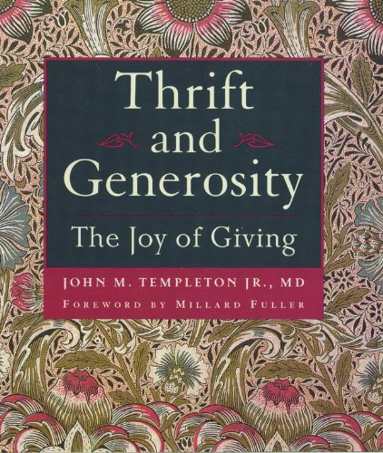 Thrift & Generosity: Joy Of Giving