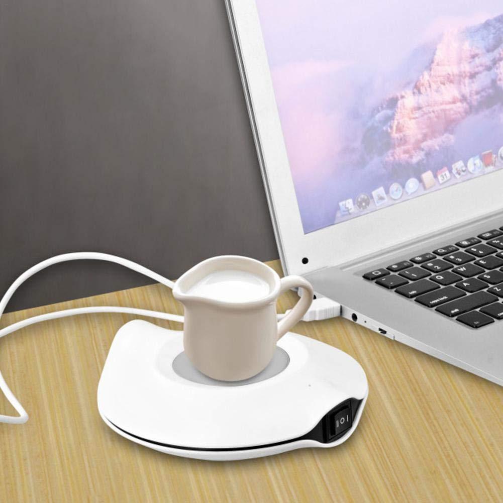 Todaytop 2-en-1 USB Placa de Aislamiento t/érmico Calentador del caf/é Calentador del Calentador y Posavasos de refrigeraci/ón para la Oficina en Interiores y Exteriores T/é para caf/é en el Centro Taza