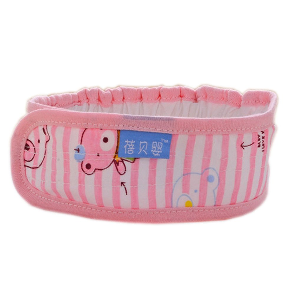 3Pcs Lovely Bear Newborn Baby Diaper Fasteners Comfortable Cotton Nappy Fixed Belt, Pink by PANDA SUPERSTORE