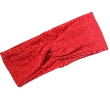 Amazon.com   Twist Elastic Turban Headband For Women Headbands Headwrap  Hairband Headwear Bandana Hair Accessories Gifts Red   Beauty 9ab2380a1ad6