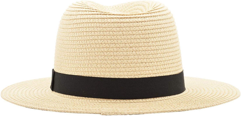 Vintage Panama Hat Men Straw Fedora Male Sun Hat Women Summer Beach Sun Visor Cap Cool Jazz Trilby Sombrero
