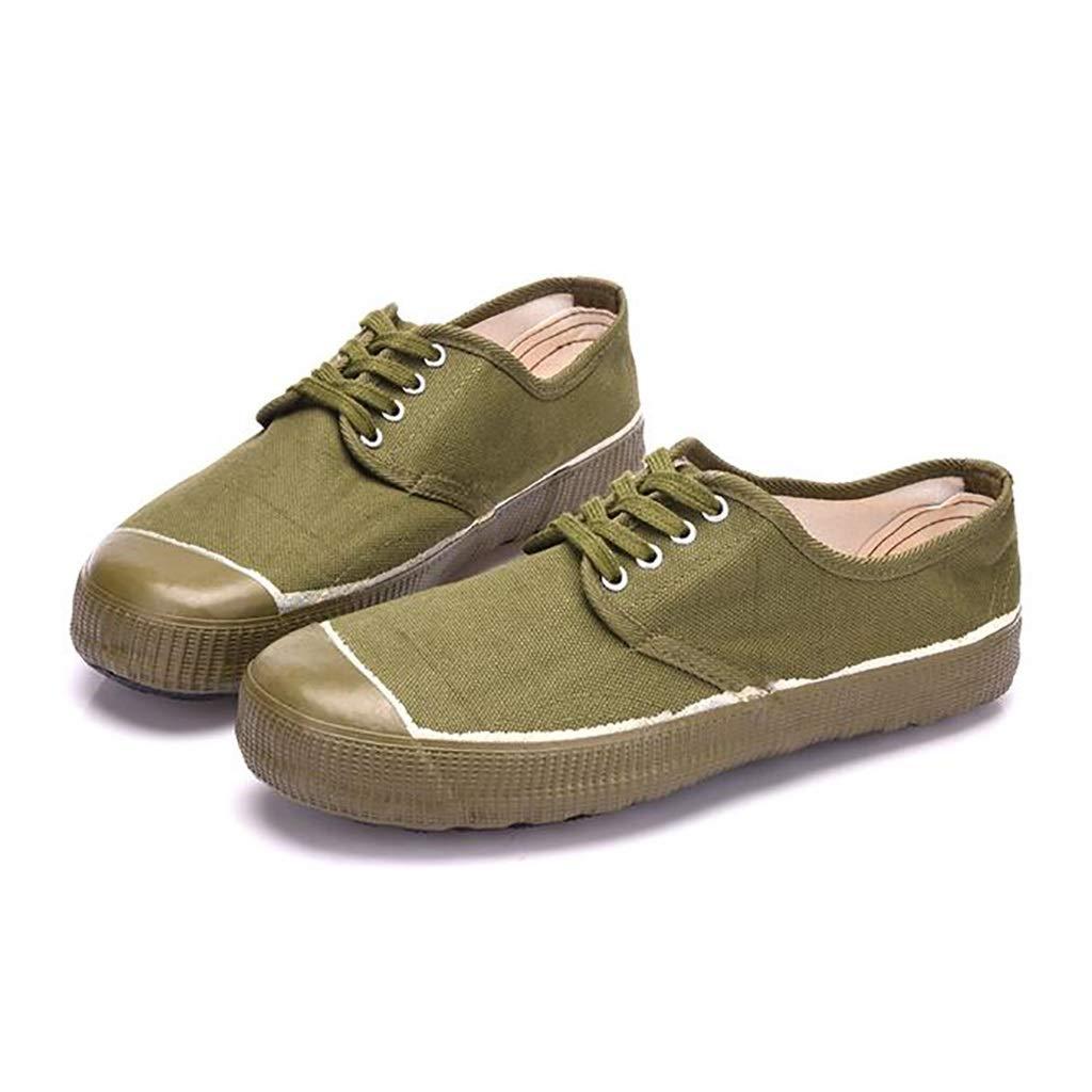 Escuela de Lona Zapatos de Entrenamiento Militar Zapatos de Goma Seguro de Trabajo Zapatos de Camuflaje Zapatillas Amarillas (Tamaño : 39): Amazon.es: Hogar