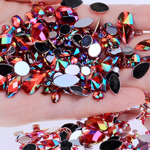 Resin Cabochon - 15g Bag About 300pcs Flat Back Acrylic Rhinestones In A Variety Of Shapes And Sizes Many S For Face Decorations Gems - Canoda
