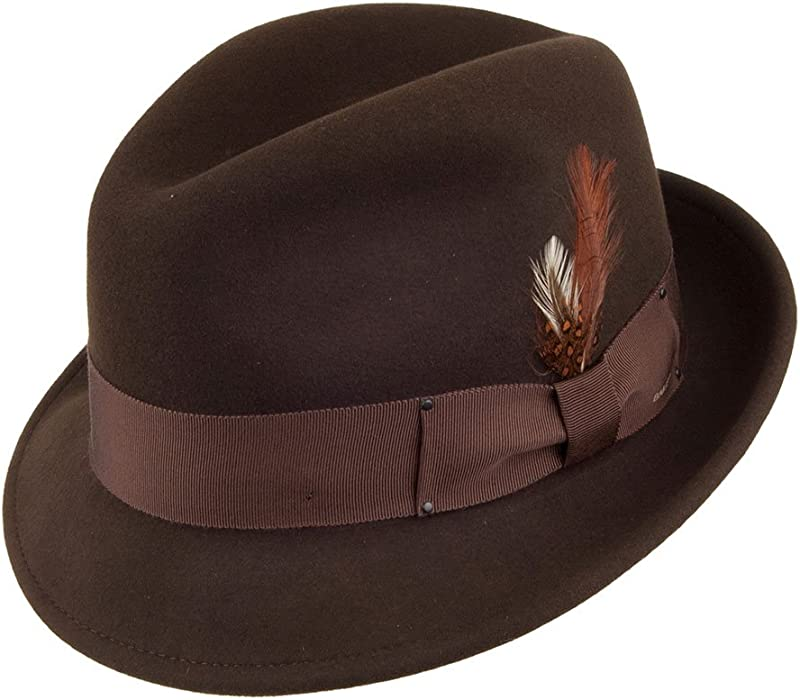 21c5d8bf059f7 Bailey Hats Tino II Crushable Trilby - Brown Medium  Amazon.co.uk  Clothing