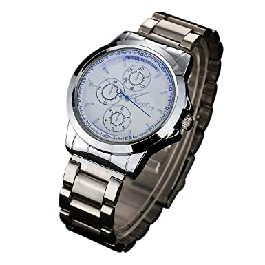 Rcool Relojes suizos relojes de lujo Relojes de pulsera Relojes para mujer Relojes para hombre Relojes deportivos,Reloj de cuarzo analógico simple de acero ...
