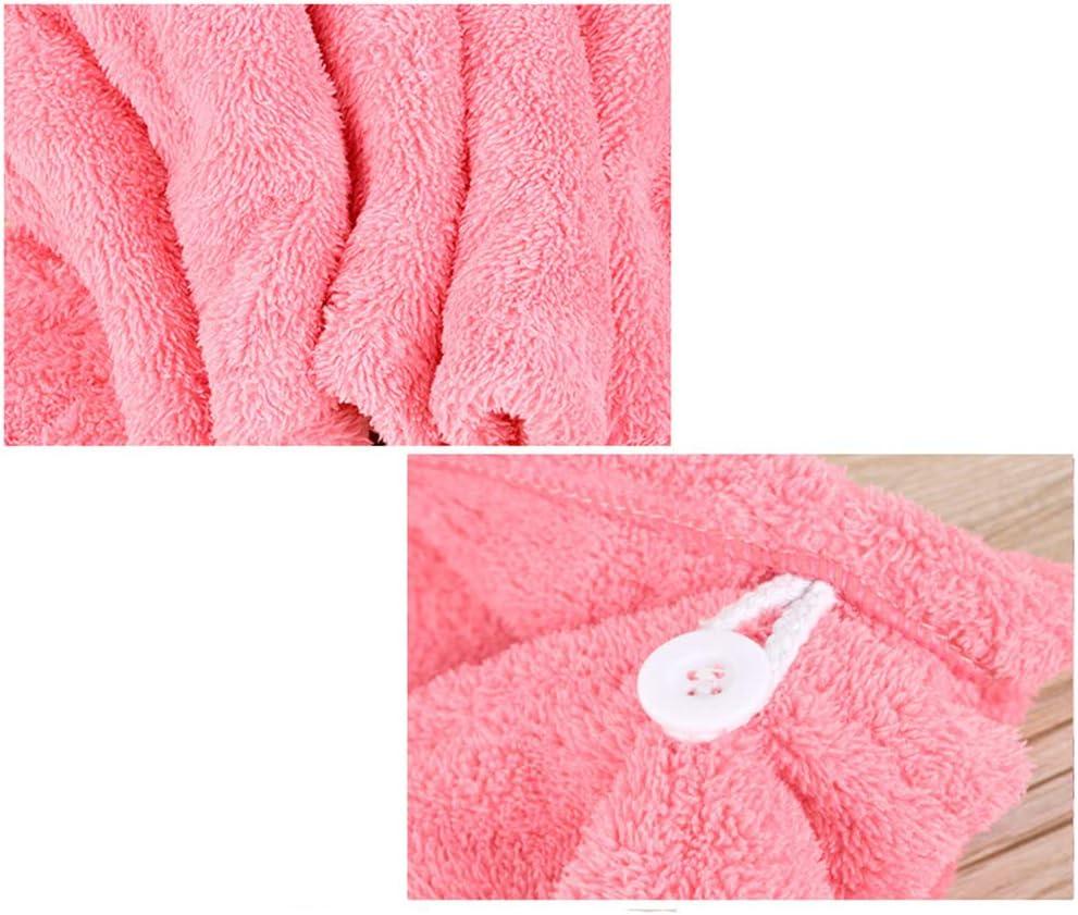 Ogquaton /Bonnet de Cheveux en Microfibre Serviette Forte Absorbant Chapeau de Douche /à S/échage Rapide Pourpre Cr/éatif et Utile