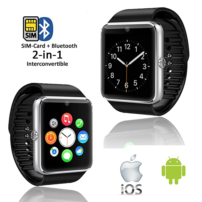 Amazon.com: Indigi GT08 SmartWatch & Phone (iOS Android ...