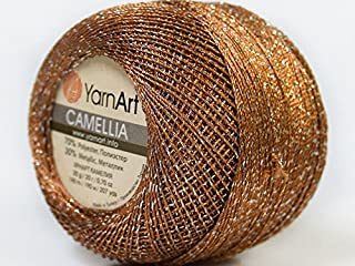 product image for Brown Silver Metallic Braid Thread Camellia #34766-20 Gram