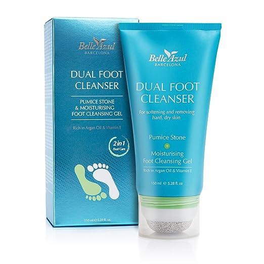 18 opinioni per Belle Azul Dual Foot Cleanser – Detergente gel piedi 2 in 1 con pietra pomice