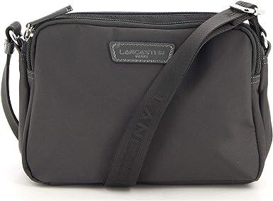 LANCASTER - Petit sac bandoulière femme toile Basic Verni (514-61) taille  16 cm