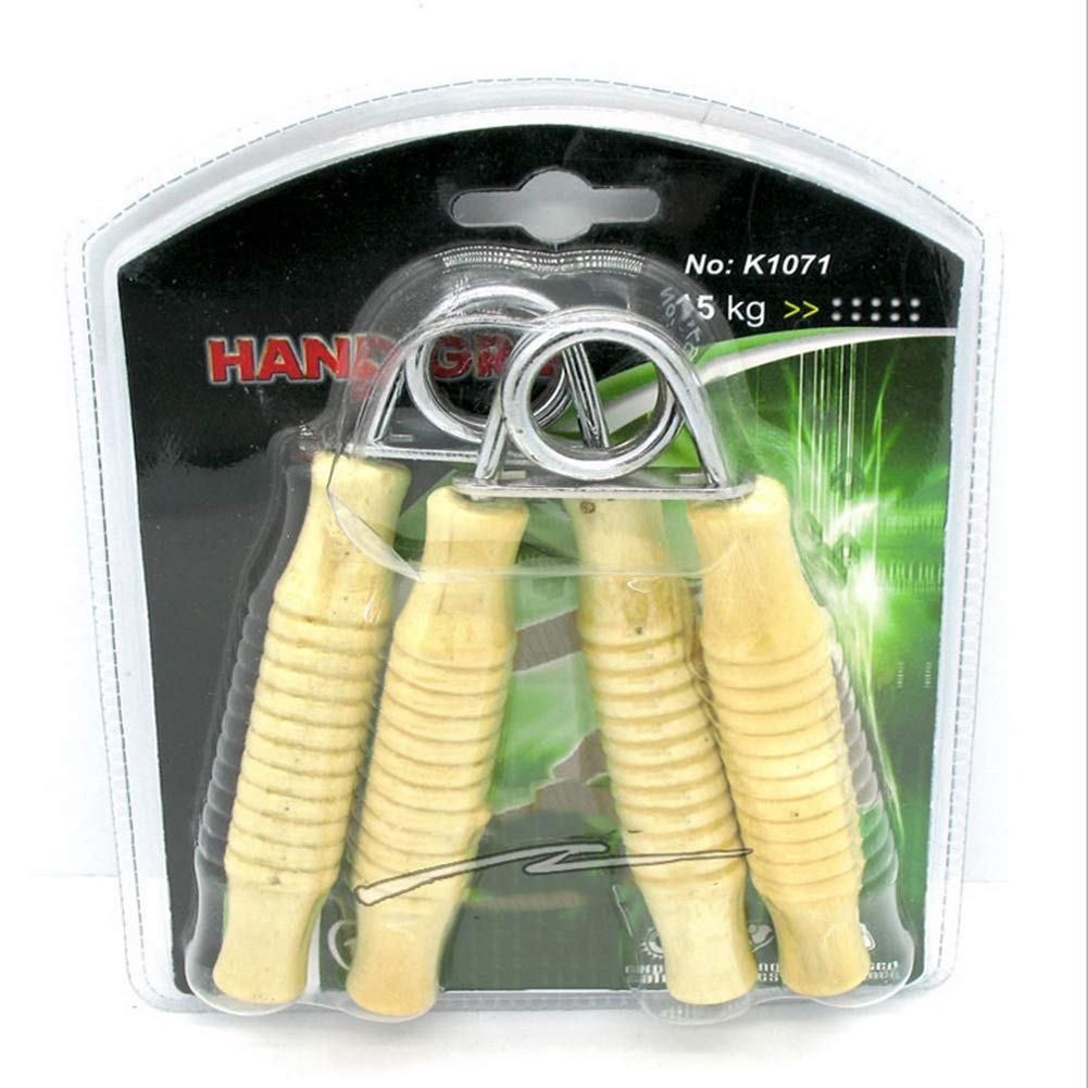 RXRENXIA A pair of wooden handle type A grips wrist force arm fitness Hand Grips Gripper Arm Muscle Builder Wrist Resistance Strengthener