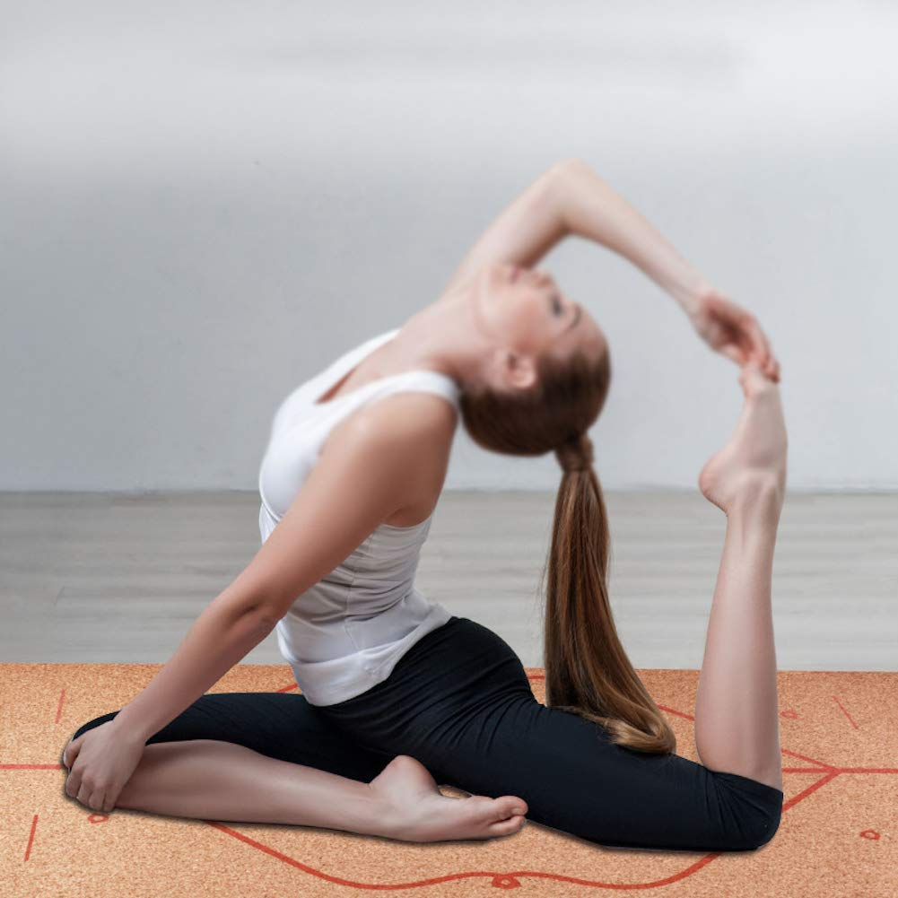 Esterilla de Corcho Yoga con Alineador, Fitness ...