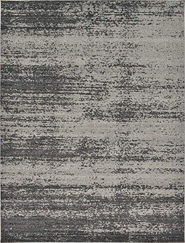 12' Kitchen (Unique Loom Del Mar Collection Dark Gray 9 x 12 Area Rug (9' x 12'))