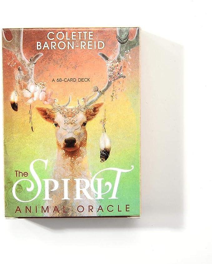 Awtang The Spirit Animal Oracle Tarot Cards Mini Tarot Deck 68pcs Card Deck And Guidebook Cards Expert English Edition Tarot Cards