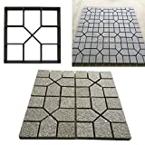 Agyvvt Path Maker Mould Paving DIY Lawn Concrete Paving Garden Path Molds 15.75inchx 15.75 inch (Style H)