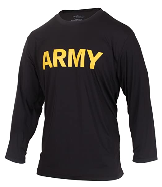 Activewear Tops Clothing, Shoes & Accessories Us Army Apfu Lightweight Long Sleeve Sports Shirt Pt Black