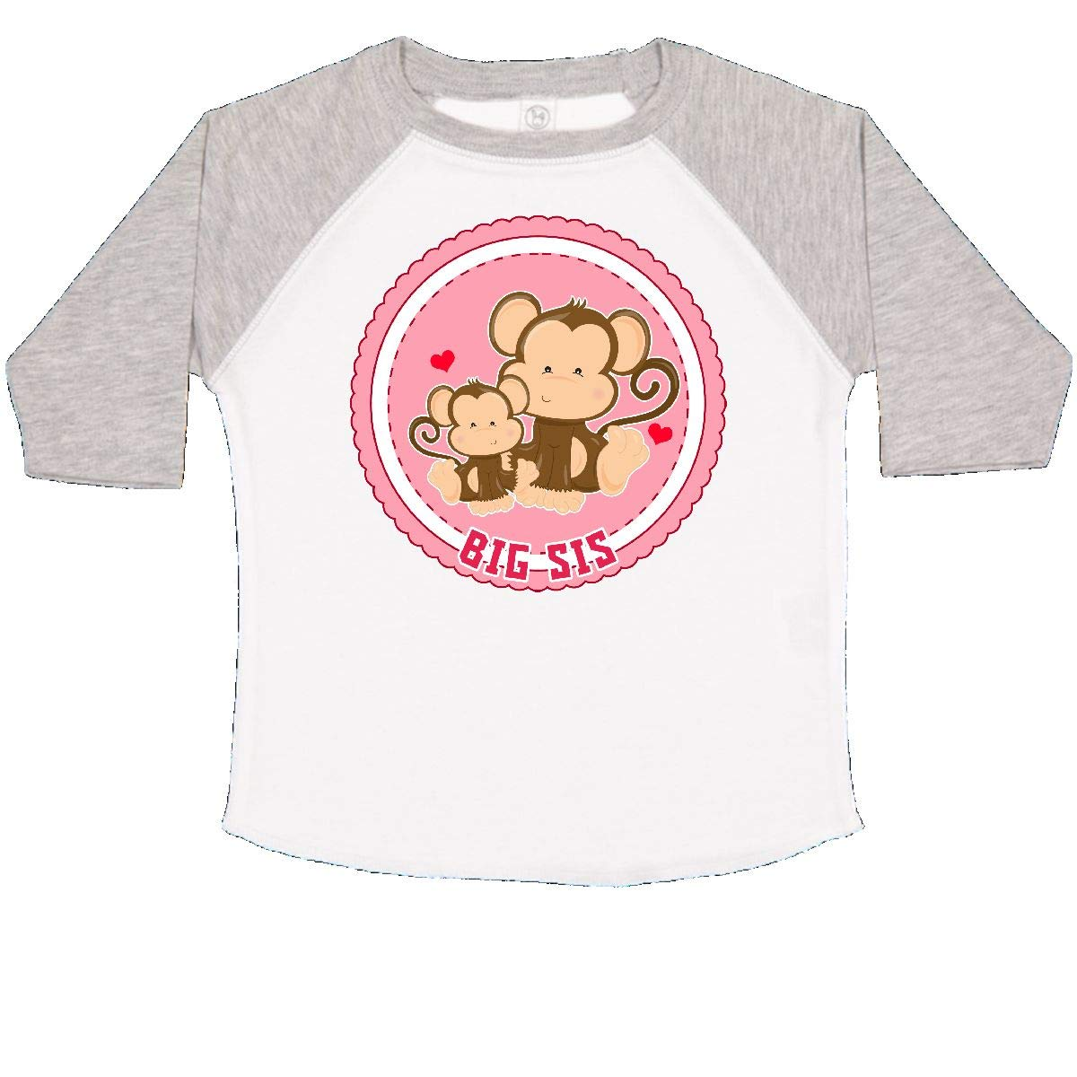 inktastic Big Sis Monkey Toddler T-Shirt