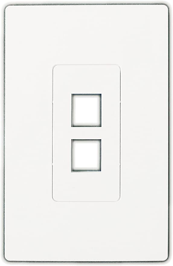 White 6 Port Keystone Décora Style Wall Plate with Screwless Face
