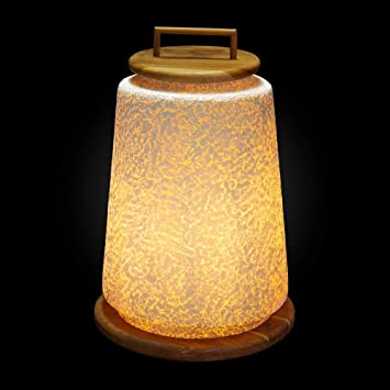 Lámpara de pie para Interior y Exterior Fibra de Vidrio ...