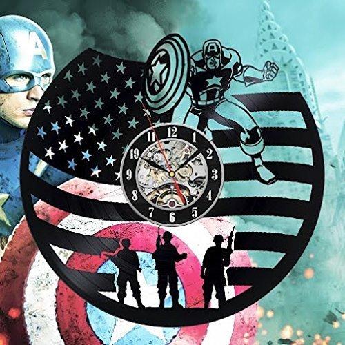 Captain America Vinyl Wall Clock